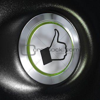 Quality service, Thumbs up Symbol, Automotive Concept