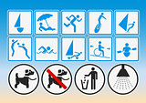 Beach pictograms