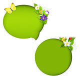 Eco Nature Speech Bubble