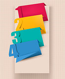 Colorful tags with numbers. Vector illustration