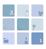 baby icons set