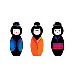 Kokeshi. Traditional japanese wooden doll