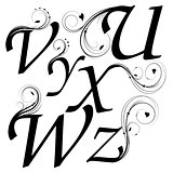 letters with floral design