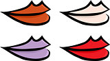 Set of Colorful Lips