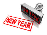 new year stamp