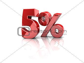 five percent
