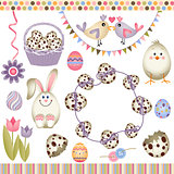 Easter digital elements