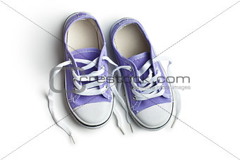 purple baby sneakers