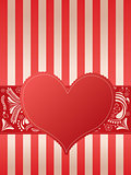 Valentine&#39;s Card with heart 