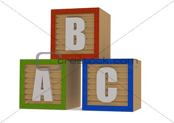 abc Wood block