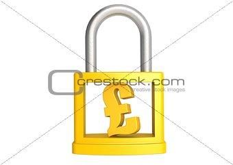 Pound in padlock