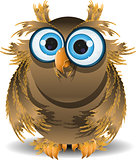 goggle-eyed wise owl
