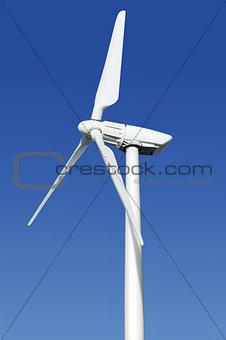 close up wind turbine