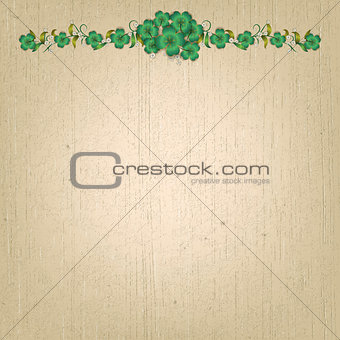 abstract beige grunge background with flowers