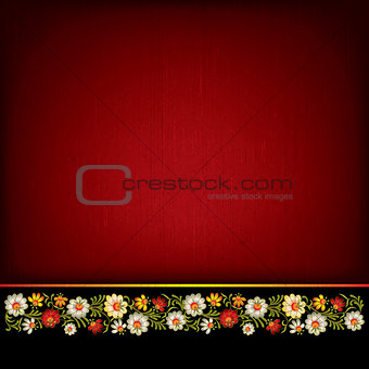 abstract grunge background with floral composition