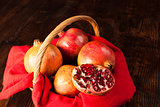 Pommegranates still life