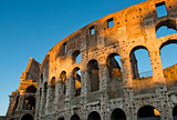 magnificent Colosseum in the first rays of sun