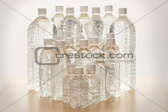 The plastic bottles
