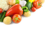 Fresh Organic Vegetables /  on white background 