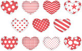 Valentine heart set