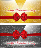 Golden and silver Valentines cards