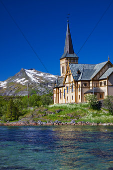 Lofoten cathedral in Norway