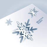 Background with paper snowflakes