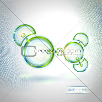 Abstract background with molecule