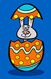 bunny in easter egg cartoon illustration