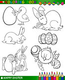 easter cartoon themes for coloring