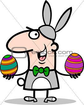 man in easter bunny costume cartoon