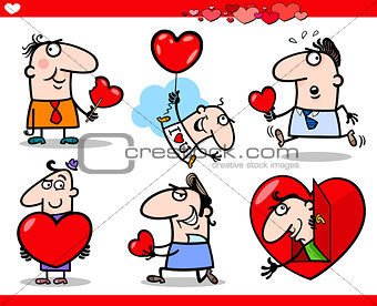 valentines day themes cartoon illustration