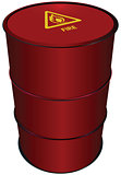 Red Steel Barrel