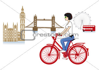 London on a bicycle