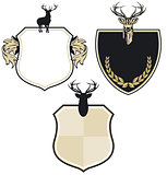 Coat of arms with three deers