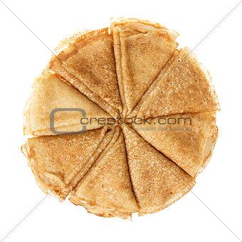 circle from pancakes