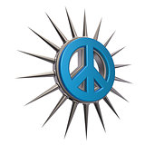 Spikes on peace sign