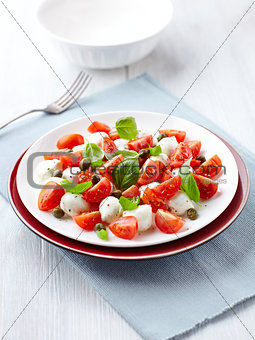 Caprese salad with capers