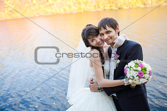 couple near the river