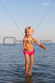 jumping in the water child