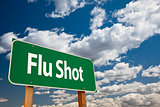 Flu Shot Green Road Sign