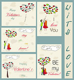 Set of vintage cards about love 2.