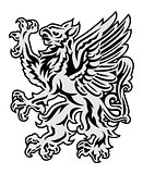 Griffin on white background