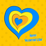 vector background on Valentine&#39;s Day with heart