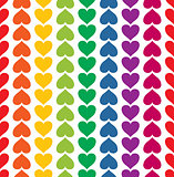 Vector seamless pattern with valentine hearts