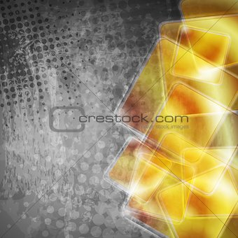 Abstract tech grunge background
