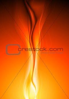 Bright orange vector waves