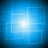 Vibrant blue square design