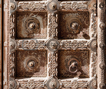Old Door of a Mehrangarh Fort, Jodhpur, India