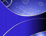 Abstract Technology Blue Background Illustration